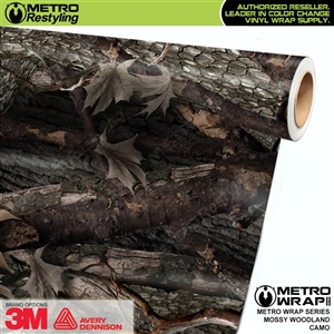 HD Mossy Woodland Camouflage Vinyl