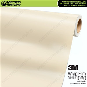 3M 1080 SP10 Scotchprint Satin Pearl White Vinyl Wrap