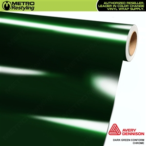 Metro Avery Dennison Gloss Dark Green  Conform Chrome Flexible Vinyl Wrap Film