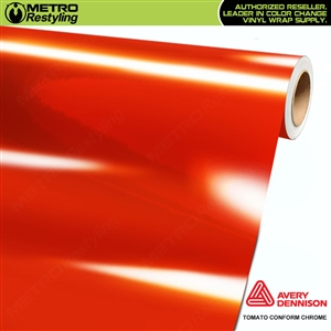 Metro Avery Dennison Gloss Tomato Conform Chrome Flexible Vinyl Wrap Film