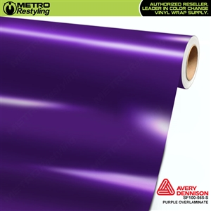 Avery Dennison Transparent Colored Overlaminate for Chrome | Purple | SF100-565-S
