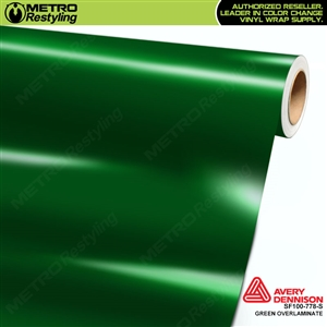 Avery Dennison Transparent Colored Overlaminate for Chrome | Green | SF100-778-S