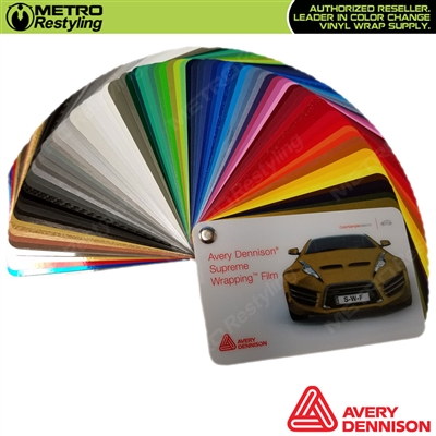 Avery sw900 supreme wrapping film sample for Avery paint protection film