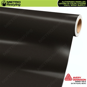 Avery SW900 Giovanna Edition Supreme Wrapping Vinyl Film Satin Pearl Nero