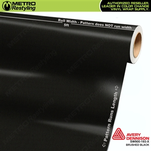 Avery SW900 Supreme Wrapping Vinyl Film Brushed Black Metallic