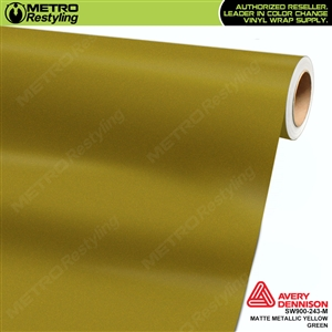 Avery SW900 Supreme Wrapping Film Yellow Green Matte Metallic