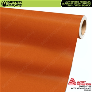 Avery SW900 Supreme Wrapping Vinyl Film Matte Blaze Orange Metallic