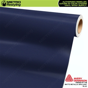 Avery SW900 Supreme Wrapping Vinyl Film Matte Brilliant Blue Metallic