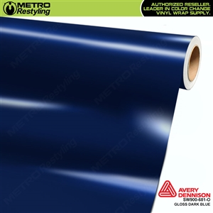 Avery SW900 Supreme Wrapping Vinyl Film Gloss Dark Blue