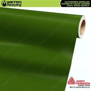 Avery SW900 Supreme Wrapping Film Matte Green Metallic