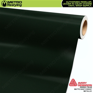 Avery SW900 Supreme Wrapping Vinyl Film Matte Deep Forest Metallic