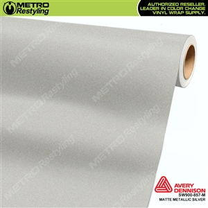 Avery SW900 Supreme Wrapping Film Matte Silver Metallic