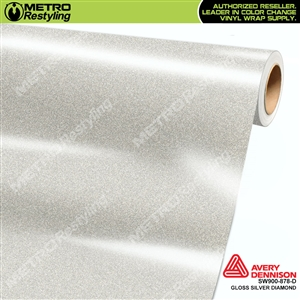 Avery SW900 Supreme Wrapping Vinyl Film Gloss Silver Diamond | SW900-878-D