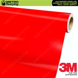 3M Neon Wrap Film | Satin Neon Red | VCW17072