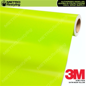 3M Neon Wrap Film | Satin Neon Yellow | VCW17076