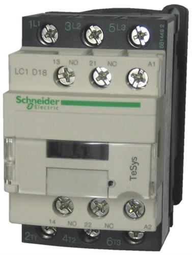 Lc1d18g7 Schneider Electric    Telemecanique 18 Amp Contactor