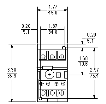 GE RT1P overload relay that is Class 10, has 3 poles and