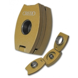 Credo 3-in-1 Cigar Punch Cutter, Bronze - Oval. 3 Punch Cutters in One Device | Credo Humidifiers.com