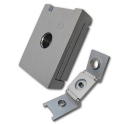 Credo 3-in-1 Cigar Punch Cutter, Silver - Square | Credo Humidifiers.com