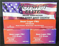 HOT SHOT 9mm Luger 115gr. FMJ