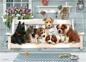 Family Pieces 350 Porch Pals jigsaw puzzle | Item 54602 | Cobble Hill Puzzle Co