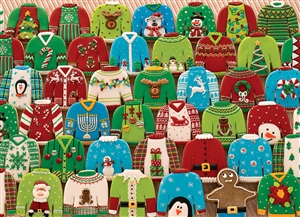 1000pc Ugly Xmas Sweaters jigsaw puzzle | 80143 | Cobble Hill Puzzle Co