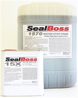 SealBoss 1570 Flexible WaterStop Foam w/15x Accelerator 5gal