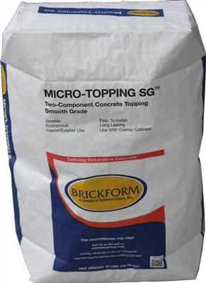 Brickform micro topping sg white for Microtopping costi