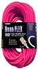 Prime Wire Neon Pink 12/3X100' Extension Cord