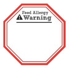 Food Allergy Warning Sticker: Customizable