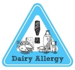 Allergy Warning Sticker: Dairy Allergy