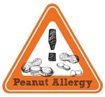 Allergy Warning Sticker: Peanut Allergy