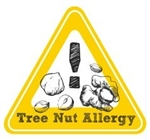 Allergy Warning Sticker: Tree Nut Allergy