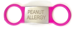 Allergy ID Tag Peanut / Pink