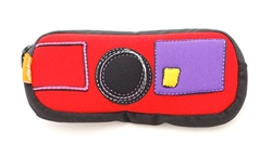 Duo Pouch: Patchwork Red
