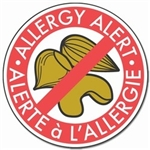 Tree Nut Allergy Alert Label