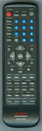 ADCOM GDV870 Genuine  OEM original Remote