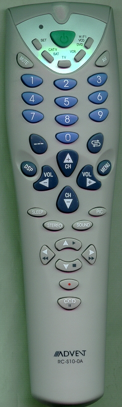 ADVENT 301-SQ2716-100A RCS100A Refurbished Genuine OEM Remote
