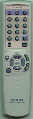 AIWA 8ZCK4952010 RC-ZAT04 Genuine  OEM Original Remote