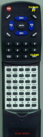 AKAI CTD1300 Custom Built Replacement Redi Remote