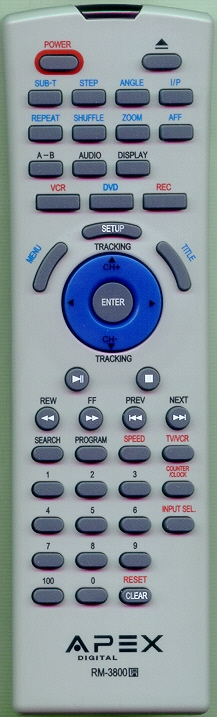 APEX ADV3800RM RM-3800 Genuine  OEM original Remote