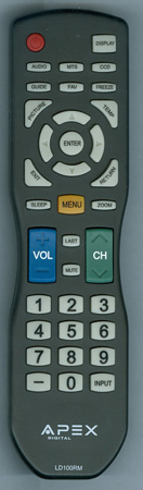 APEX LD100RM Genuine OEM Original Remote