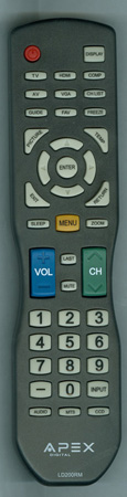 APEX LD200RM Genuine OEM original Remote