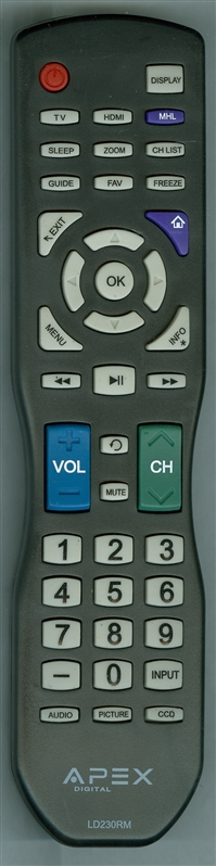APEX LD230RM Genuine  OEM original Remote