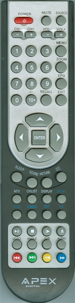 APEX LE3212D Genuine  OEM Original Remote