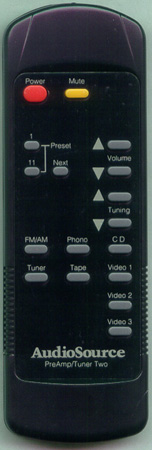 AUDIO SOURCE PREAMPTUNER 2 Genuine  OEM Original Remote