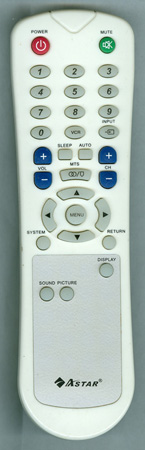 ASTAR LTV1501 Genuine  OEM original Remote