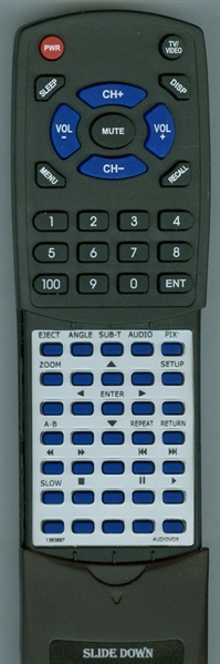 AUDIOVOX 136-3887 Custom Built Replacement Redi Remote