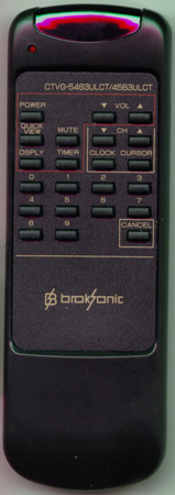 BROKSONIC CTVG5463ULCT-4563ULCT Genuine  OEM Original Remote