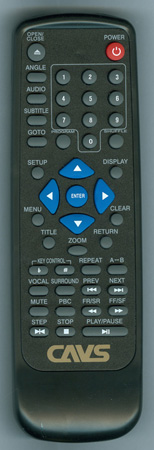 CAVS DVD101G Genuine OEM Substitute Remote